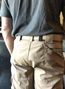 Alien Gear holster concealed under tucked in T-shirt