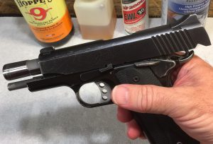 Slide locked to rear Kimber 1911