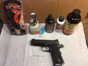 Supplies needed to Clean a Kimber 1911
