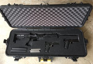 Plano Rifle Case with AR-15 and 2 Handguns
