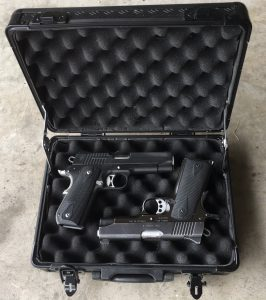Travel Gun Case for Pistols or Revolvers