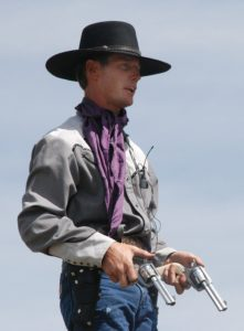 Cowboy with Two Revolvers