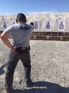 Learning to Shoot One-Handed during a Tactical Handgun Course at Front Sight