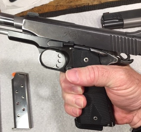 1911 Function and Safety Check-Slide locks back on empty magazine