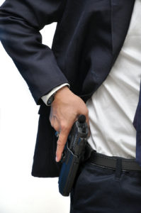 Man concealed carrying a handgun