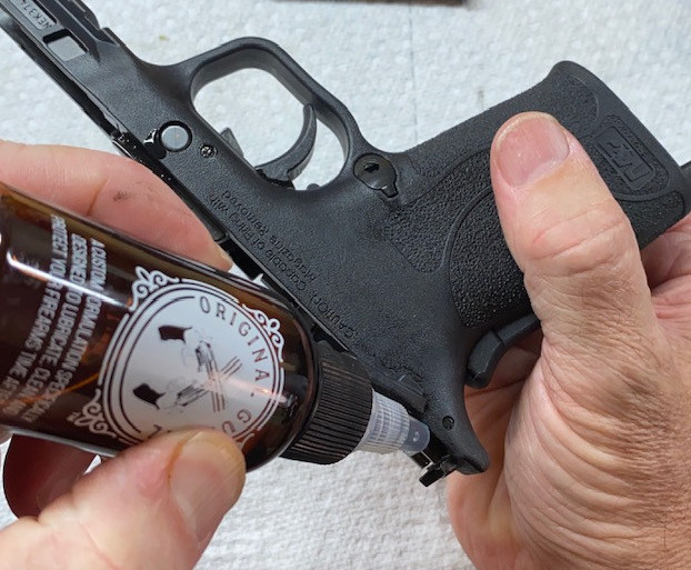 Using Original Gun Oil to lubricate an M&P Shield